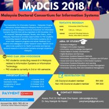 1st Malaysia Doctoral Consortium for Information Systems (MyDCIS) 2018