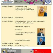 PACIS 2020 Publication Workshop at UUM