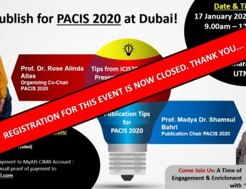 Let's Published for PACIS2020 at Dubai Event – CLOSED
