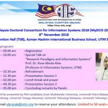 Malaysia Doctoral Consortium for Information Systems 2018 (MyDCIS 2018)