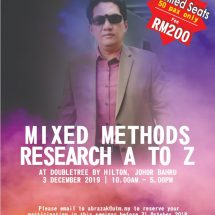Mixed Methods Research A to Z: One Day Seminar by Dr Othman Talib
