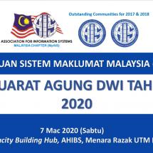 Persatuan Sistem Maklumat Malaysia (MyAIS) Biennial General Meeting (BGM) 2020